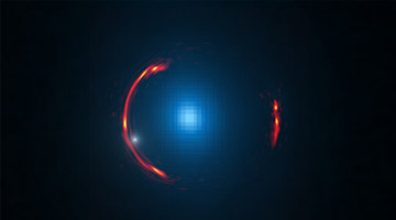 Einstein Ring: Dwarf Dark Galaxy Hidden in ALMA Gravitational Lens Image | Amazing Science | Scoop.it