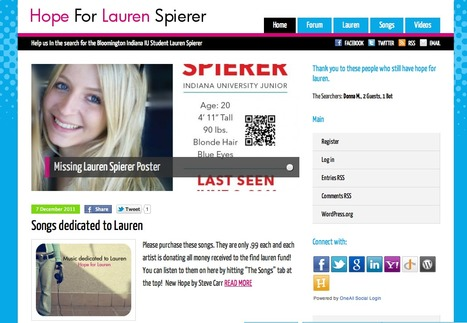 Hope for Lauren Spierer | Lauren Spierer | Scoop.it