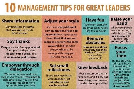 10 Management Tips for Great Leaders | Educational Technology | Scoop.it