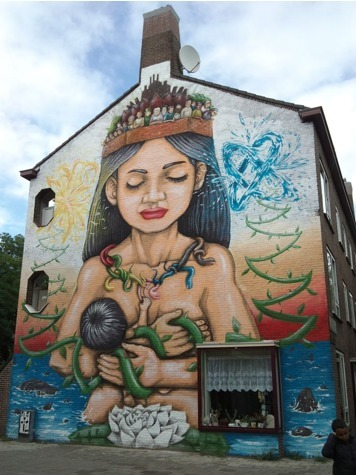 Mural in Slotermeer-Noordoost, Amsterdam, Netherlands | World of Street & Outdoor Arts | Scoop.it