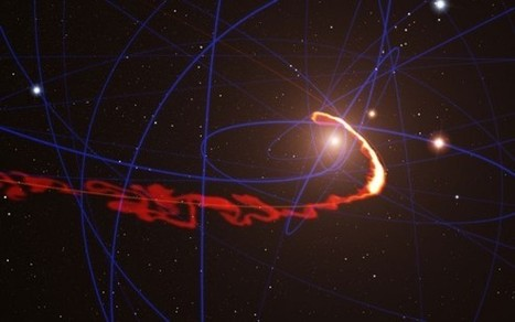 Astronomers see gas cloud ripped apart by black hole   Skylarkers   Scoop.it