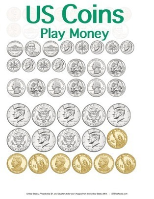 Printable Play Money - Coins | Math Worksheets and Flash Cards | Scoop.it