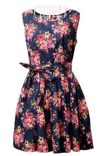 Floral Print Sleeveless Cotton Dress - OASAP.com | Sweet Lolita | Scoop.it