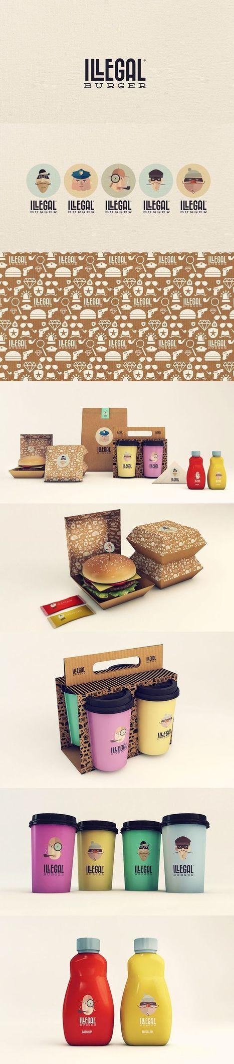Illegal Burger Bar packaging Design - Inspiration DE | ChefCentral | Scoop.it