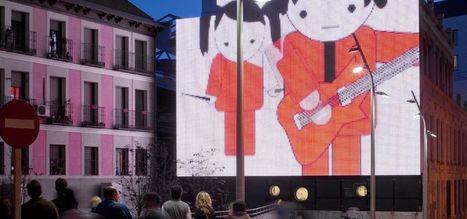 Facciata multimediale interattiva - progetto di illuminazione - Philips | Facciate, facades, vertical green wall, colorful facades, wall street art, facades led media light, projection  mapping | Scoop.it