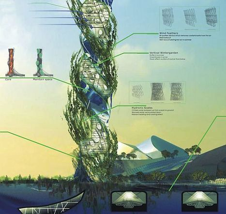Twisting Acupuncture Tower for Taiwan | sustainable architecture | Scoop.it