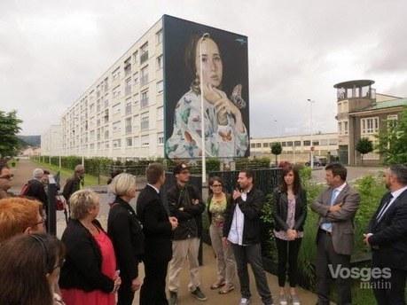 Vosges Saint-Dié : Inauguration de la fresque monumentale de Mantra, à Kellermann | Créativité urbaine | Scoop.it