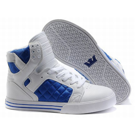 Supra Skytop High Tops White/Blue Men's | my style | Scoop.it