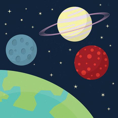 Beginner Illustrator Tutorial: Cartoon Style Space Scene | Diseños y Soluciones | Scoop.it