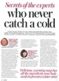 Secrets of the experts who never catch  a cold - including acupuncture | Acupuncture and the respiratory system | Scoop.it