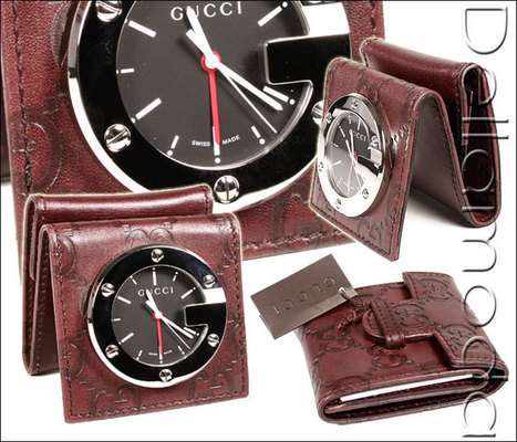Gucci Limited Edition Brown Travel Desk Alarm Clock/Watch (GGC1)   Online Shopping   Scoop.it