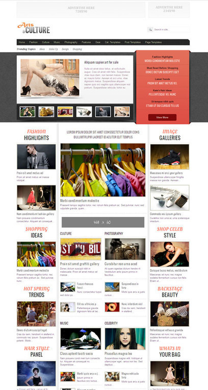Arts & Culture Responsive WordPress News Theme | fb | Scoop.it