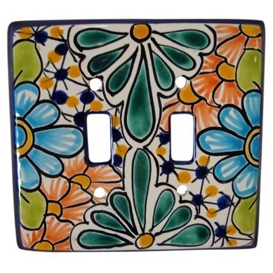 Talavera Double Switch | Hand painted furniture and talavera pottery | Scoop.it