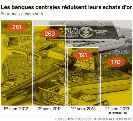 Les banques centrales réduisent leurs achats d'or - Les Échos (Blog) | Banques & finances | Scoop.it