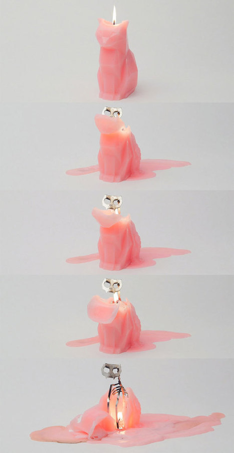 Cat Candles Reveal Gory Skeleton Insides as They Melt | All Geeks | Scoop.it