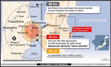 [carte interactive] Zone d'interdiction Fukushima   Radio-Canada.ca   Japon : séisme, tsunami & conséquences   Scoop.it