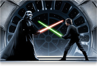 Darth Vader vs Luke Skywalker | Father-Son Conflict: Tension often results from separation during childhood or from an external source when the individuals meet as men and where the mentor often has a higher place in the affections of the hero than the natural parent. | Scoop.it