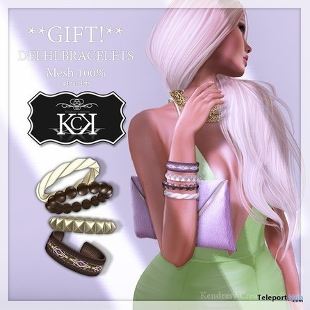 Bracelets Delhi Gift by Kendrasy Creations | Teleport Hub - Second Life Freebies | Second Life Freebies | Scoop.it