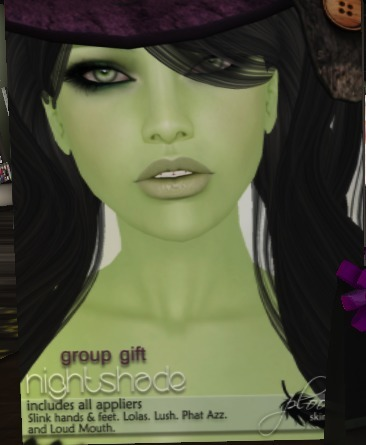 Free group skin from Ploom | Second Life Freeness Huntress | Scoop.it