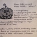 Woman giving 'obesity' letters to trick-or-treaters | Healthy Recipes and Tips for Healthy Living | Scoop.it