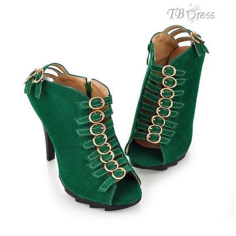 Stiletto Heel Buckle Roman Shoes | beauty&fashion clothing | Scoop.it
