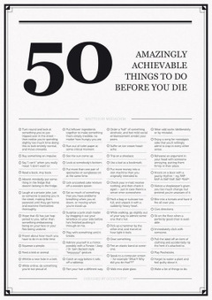 50 Amazingly Achievable Things To Do Before You Die - The Large ... | Bucket Lists | Scoop.it