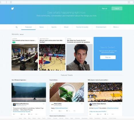 Twitter : une nouvelle page d'accueil en France pour attirer les internautes non-inscrits - Blog du Modérateur | SOCIAL MEDIA_CM_COM | Scoop.it