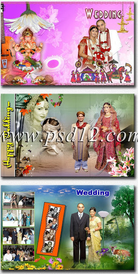 Photoshop Backgrounds: 12x18 Indian Wedding Album Templates Design 6 | Watts Studio | Scoop.it