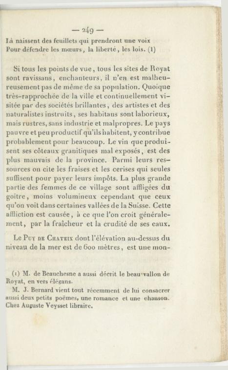 Découvrez le Clermont-Ferrand de 1836 avec ce guide du voyageur | Culture Mission Locale | Scoop.it