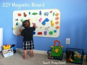 DIY Magnetic Board | Teach Preschool | Scoop.it