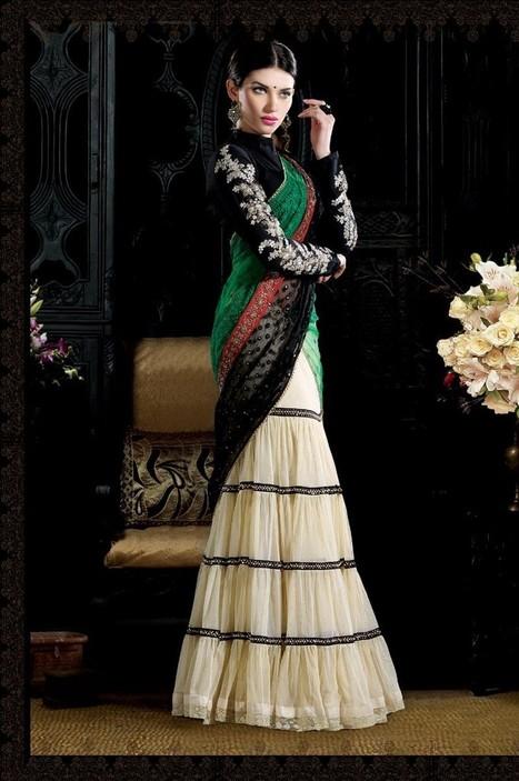 Gravity Fashion - Melodic Buttercream Lehenga Choli | Indian Ethnic Wear 2013 | Scoop.it