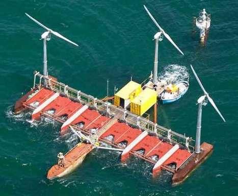 Danish start-up Floating Power Plant's hybrid wave+wind floating test plant | Sustainable Energy | Scoop.it