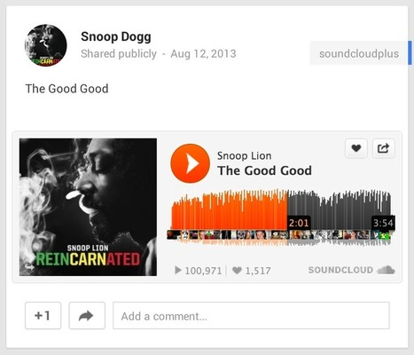 Google+ Plugs In SoundCloud for Its 343 Million Users (Exclusive) - Billboard | ☊ ☊ Harmony60 Music ☊ ☊ | Scoop.it