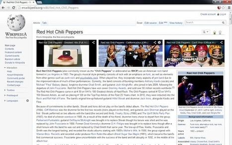 WikiTube : Adds relevant YouTube videos to Wikipedia | Time to Learn | Scoop.it