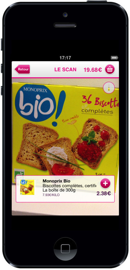 Monoprix permet de faire ses courses depuis son réfrigérateur grâce à la reconnaissance d'image en temps... | Atawad | Scoop.it