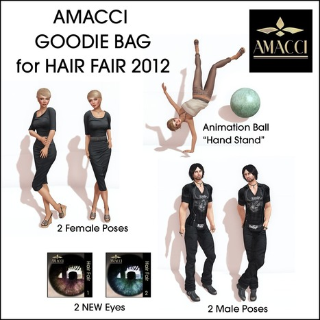 Amacci Hair - Goodie Bag - Hair Fair 2012 | Freebies and cheapies in second life. | Scoop.it