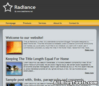 Radiance Blogger Temaplate | Awesome jQuery Tutorials | Scoop.it