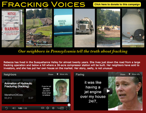 Fracking Voices—Pennsylvania Residents Warn New Yorkers About the Dangers of Fracking | EcoWatch | Scoop.it