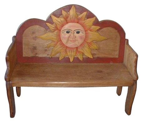 Sun Hand Painted Rustic Solid Wood Ben Hand Painted Furniture | Hand Painted Furniture | Scoop.it