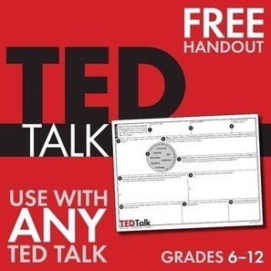 TED Talks, FREE Worksheet to Use With ANY TED Talk, Public Speaking, Grades 6-12 | Create: 2.0 Tools... and ESL | Scoop.it