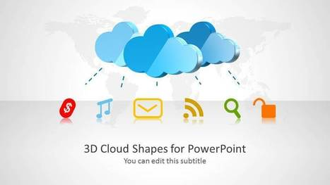 3D Cloud Shapes for PowerPoint - SlideModel | PowerPoint Presentation Library | Scoop.it