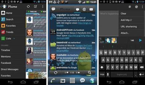 Plume for Twitter, uno de los mejores clientes de Twitter para Android | Pedalogica: educación y TIC | Scoop.it