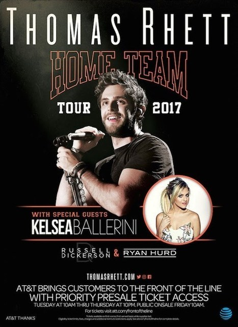Thomas Rhett To Launch First Headlining Tour In 2017 | Country Music Today | Scoop.it