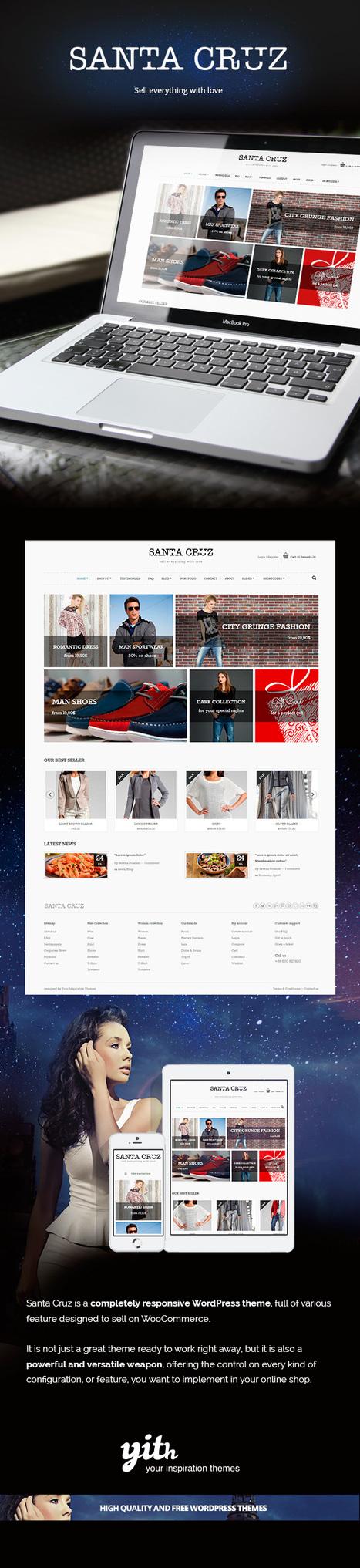 Santa Cruz – Free ecommerce responsive wp  theme | wordpresstemplates | Scoop.it