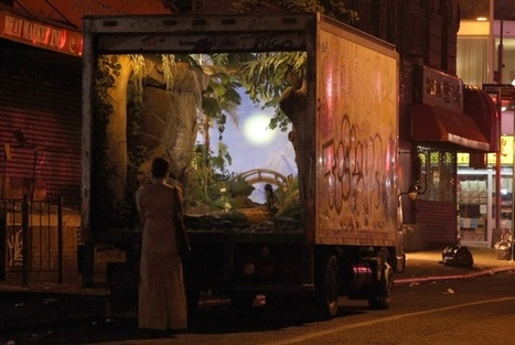 Banksy's NY Delivery Truck Turned Enchanting Garden Installation | Creative Explorations | Scoop.it