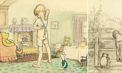 Found... the sketch that first captured the magic of Poohsticks | British Genealogy | Scoop.it