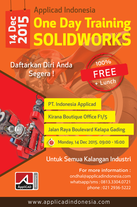 One Day Training SolidWorks | AppliCAD Indonesia. | AppliCAD Indonesia | Scoop.it