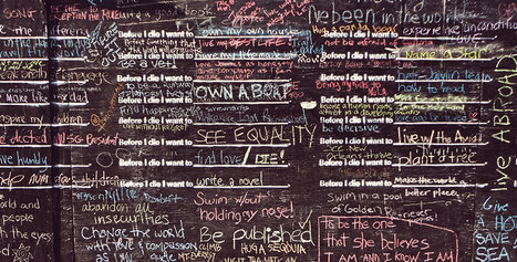 Before I Die: A Global Ethnography of Anonymous Aspirations in Chalk and Public Space | Positive futures | Scoop.it