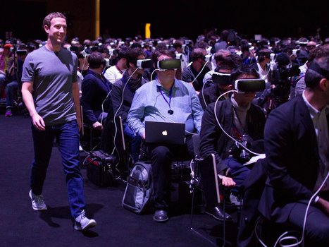 The internet is losing its mind over this photo of Mark Zuckerberg walking through a sea of people in VR headsets | Design to Humanise | Scoop.it