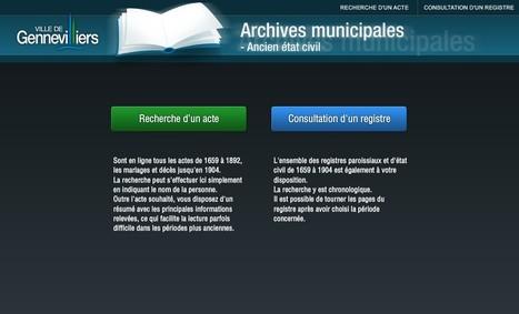 L'état civil de Gennevilliers est en ligne | GénéInfos | Nos Racines | Scoop.it